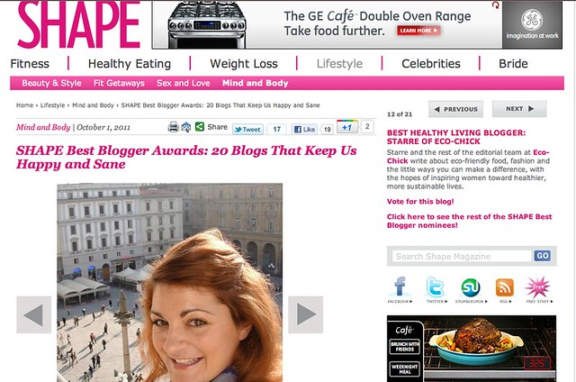 Shape Magazine Blogger Award
