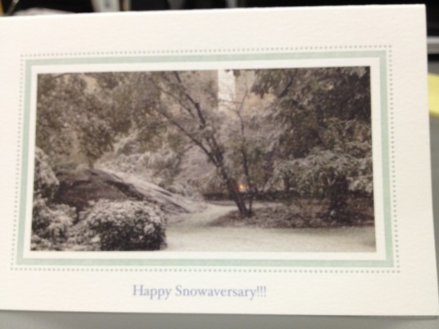 snowtober card from husband.