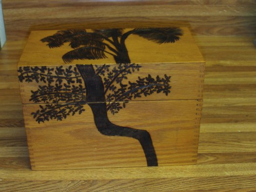 Woodburning A Tree On A Box-1