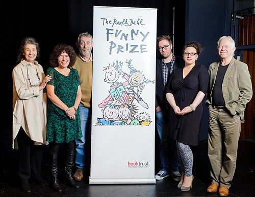 The Roald Dahl Funny Prize judges Felicity Dahl, Francesca Simon, Michael Rosen, Danny Wallace, Grace Dent and Tony Ross.