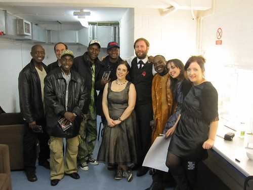 Revere and Toumani Diabate with his band
