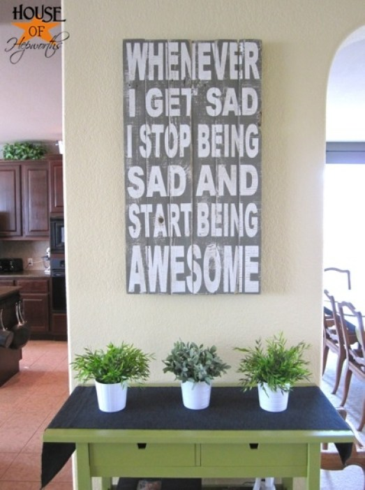 Start Being Awesome Typography Art by House of Hepworths
