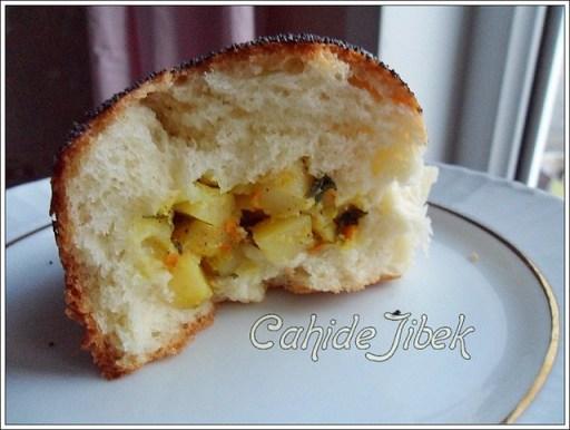patatesli çiçek ekmek