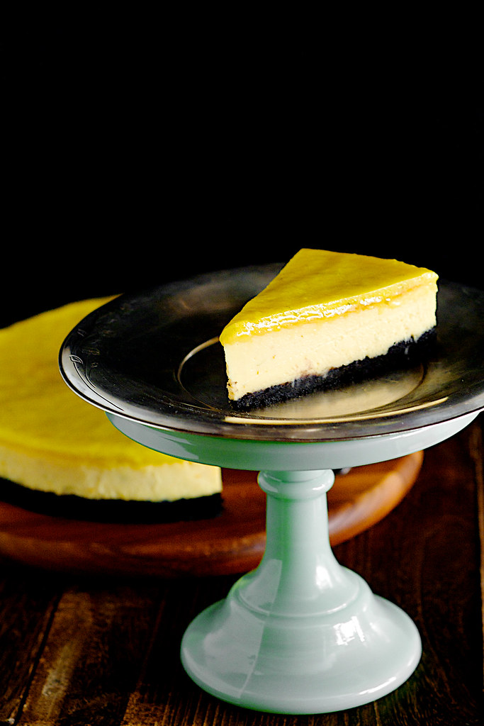 Nigella Lawson Chocolate Yuzu Lime Cheesecake with Lime Curd
