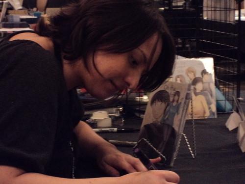 Dana working