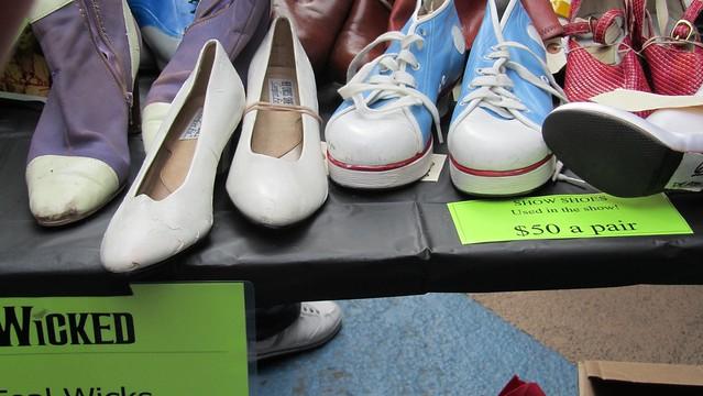 broadway flea. wicked shoes.