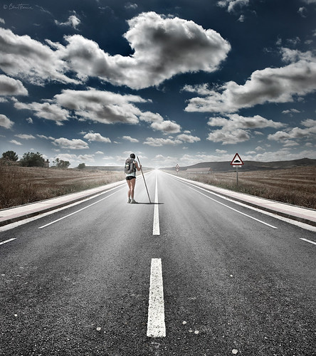 The Road Never Ends by Ben Heine