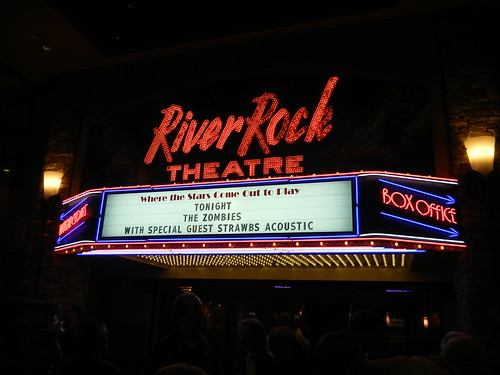 The Zombies & The Strawbs on the River Rock Theatre Marquee