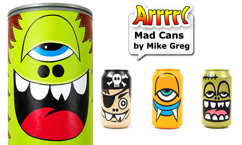 Painted Face Cans