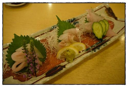 niigata local fish sashimi