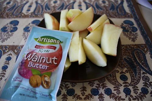 Walnut Butter Artisana apples