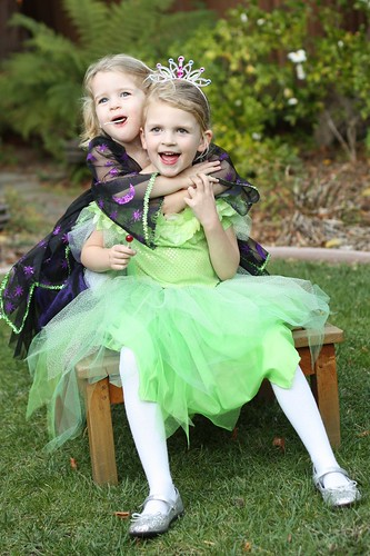 Claire and Juliet in their Halloween 2011 costumes