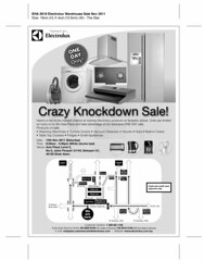 Electrolux - Crazy Knockdown Sale 12 Nov 2011