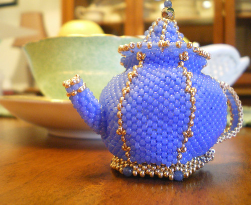 Lovely Beaded Teapot