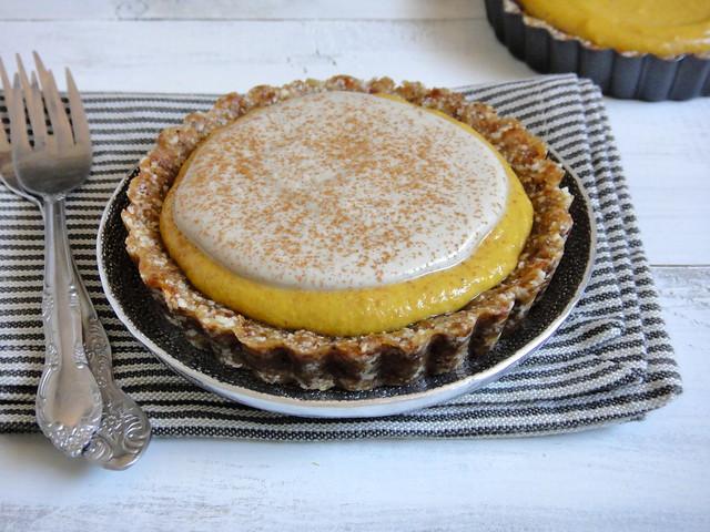 Raw pumpkin pie