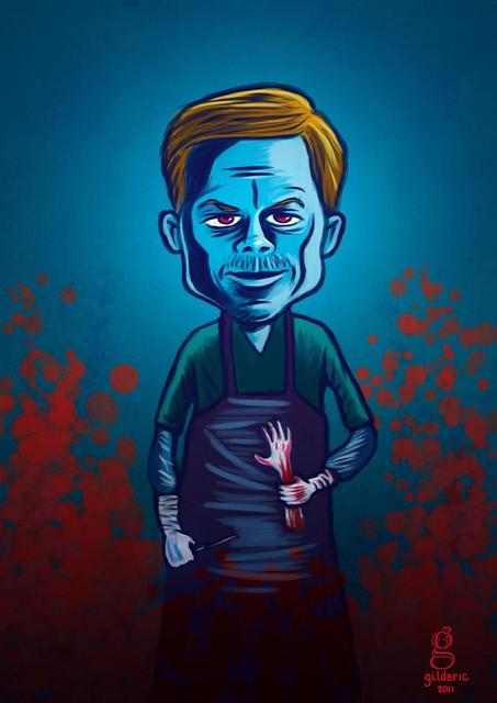 Dexter (Michael C. Hall) - Caricature par Gilderic