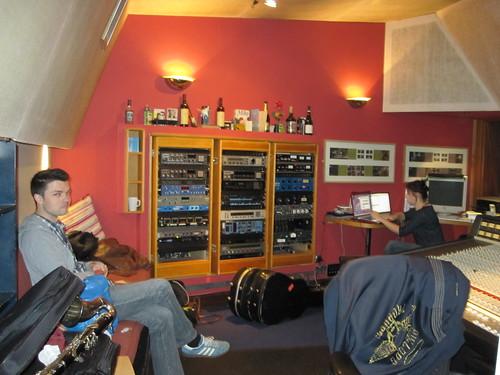 Hanging around at the studio