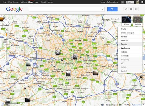goog webcam map