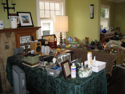 Estate sale tables