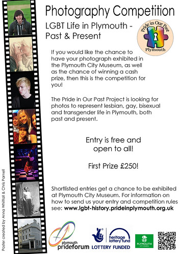 LGBT Photography Flyer by Pride in Our Past