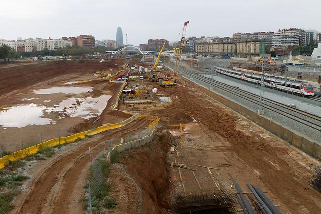 Zona de la nueva estación de La Sagrera - 03-11-11