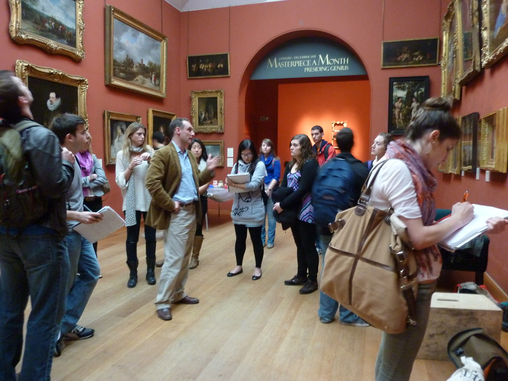 SU London students are led on a private tour of the Dulwich Picture Gallery by chief curator Xavier Bray.