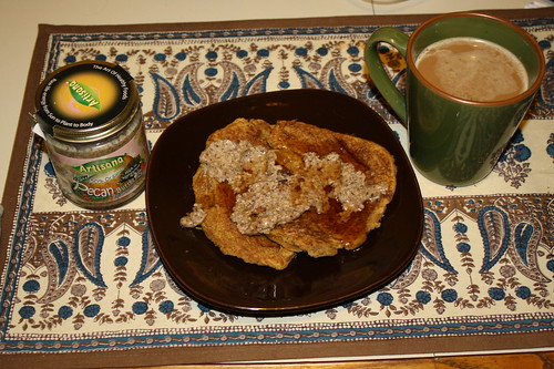 Artisana Pecan Butter and pumpkin pancakes