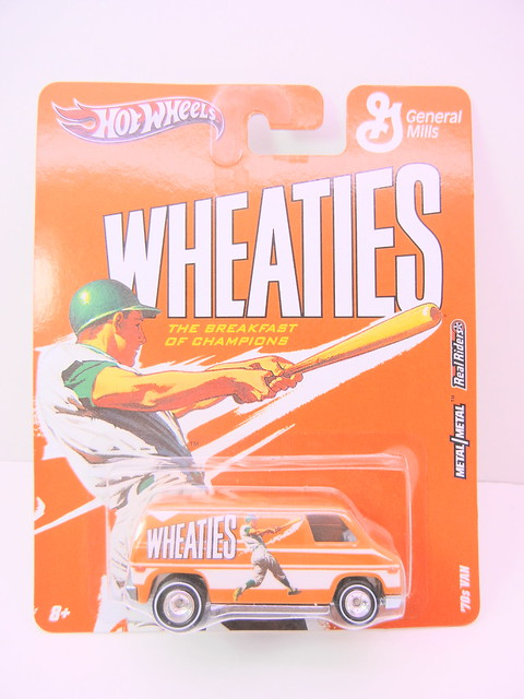 hot wheels nostalgia wheaties  70's van (1)