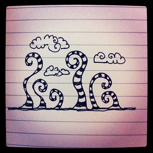 Stripes make everything better, even doodles #aedm2011 #aedm