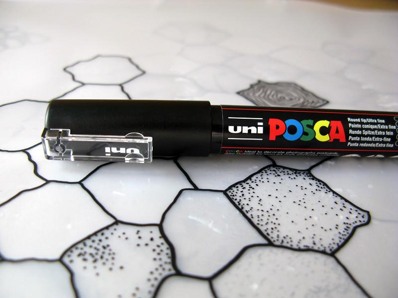 POSCA paint pen.