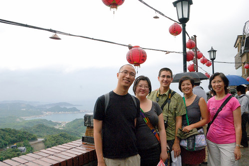 Our group at an overlook in Jiufen