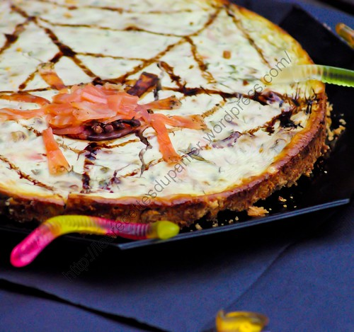 Cheesecake au saumon fumé version Halloween / Halloween Fashioned Smoked Salmon Cheesecake