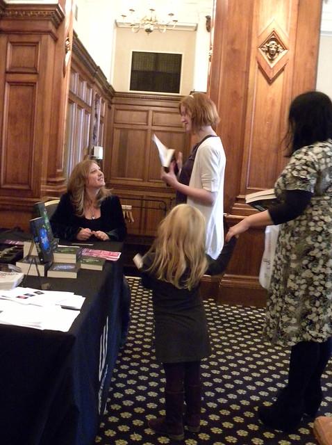 Julie Bertagna at the Manchester Literature Festival