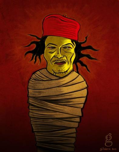 La mort de Kadhafi - Illustration de Gilderic