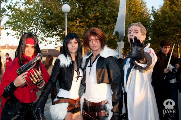Vincent, Seifer, female Squall, Squall cosplay