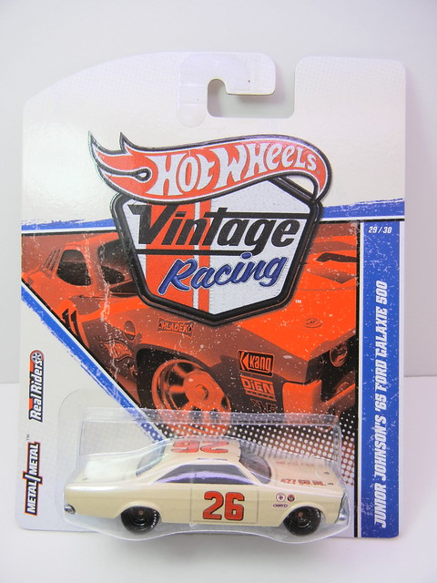 HOT WHEELS VINTAGE RACING JUNIOR JOHNSON'S '65 FORD GALAXIE 500 (1)