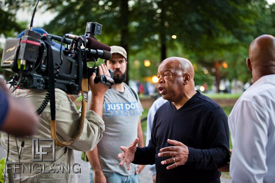 Congressman John Lewis at #OccupyAtlanta General Assembly Woodruff Park 10/07 Occupy Atlanta #OccupyWallStreet