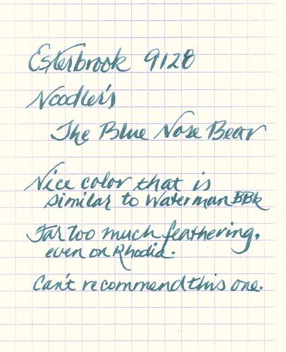Noodler's Blue Nose Bear Ink