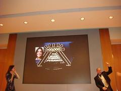 """Rebecca Stead & Jon Scieszka after """"$20,000 Pyramid"""" Game"""
