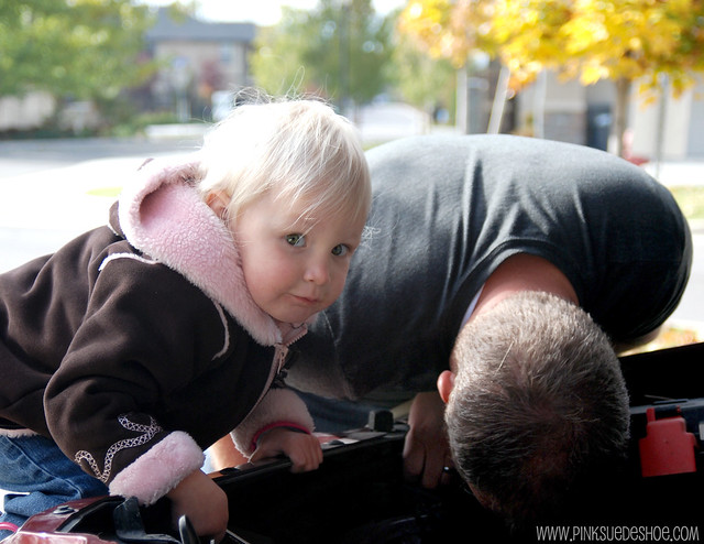 helping fix the car
