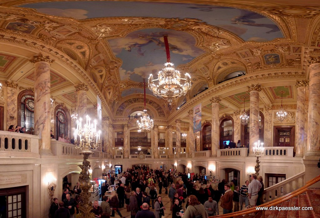 Lobby of Wang Theater, Boston by Dirk Paessler
