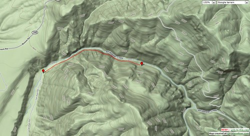 Topo Map of Catwalk Trail
