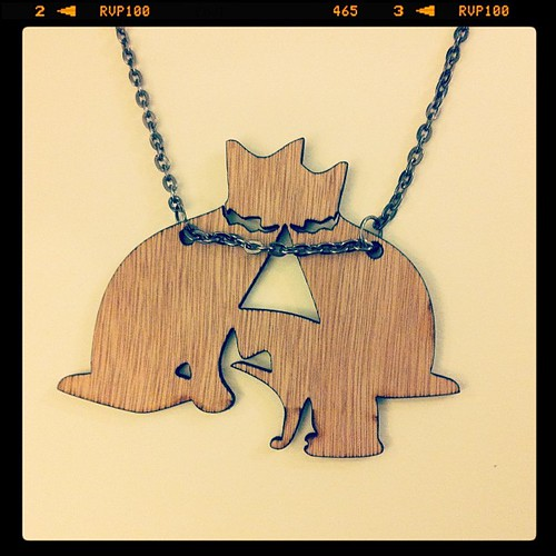:: The Dulcetkittehs Necklace :: it's just like our trio! they too are wearing bow tie collars! :p