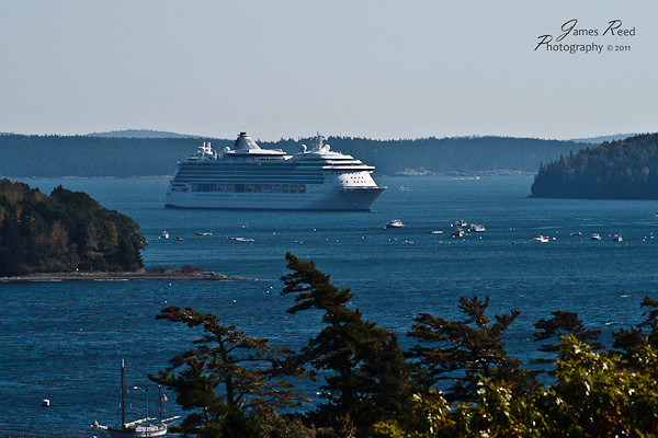The Jewel of the Seas at rest in Bar Harbor.