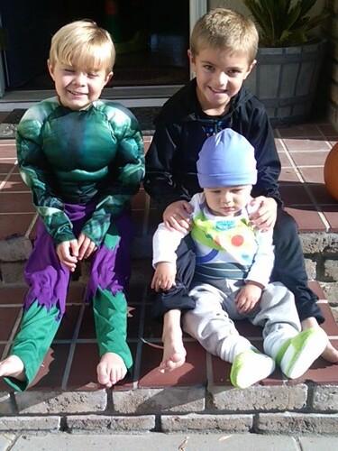 boys on halloween