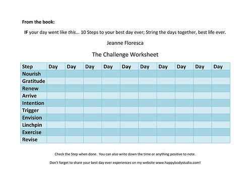 The Challenge Worksheet