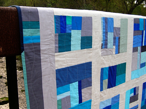 Banff quilt on the bridge rails