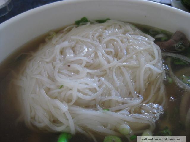 Close up of noodles