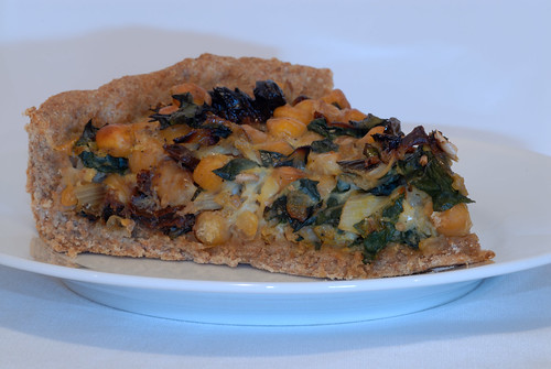 Mangold-Kichererbsen-Quiche