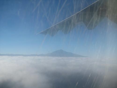 El Teide desde el avión